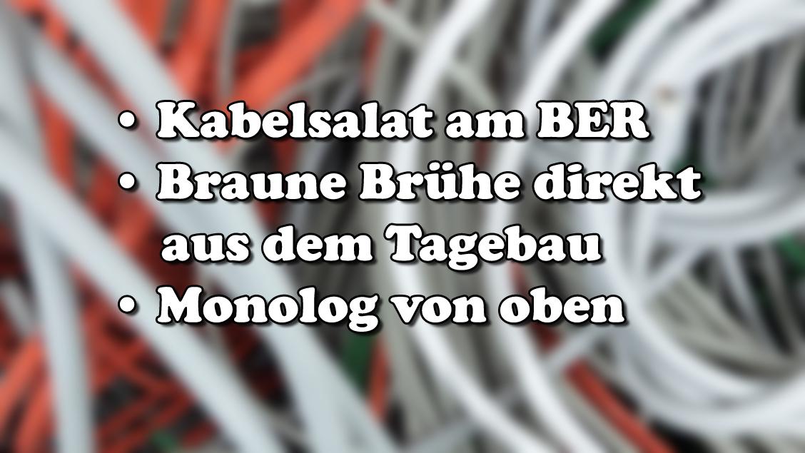Kabelsalat am BER