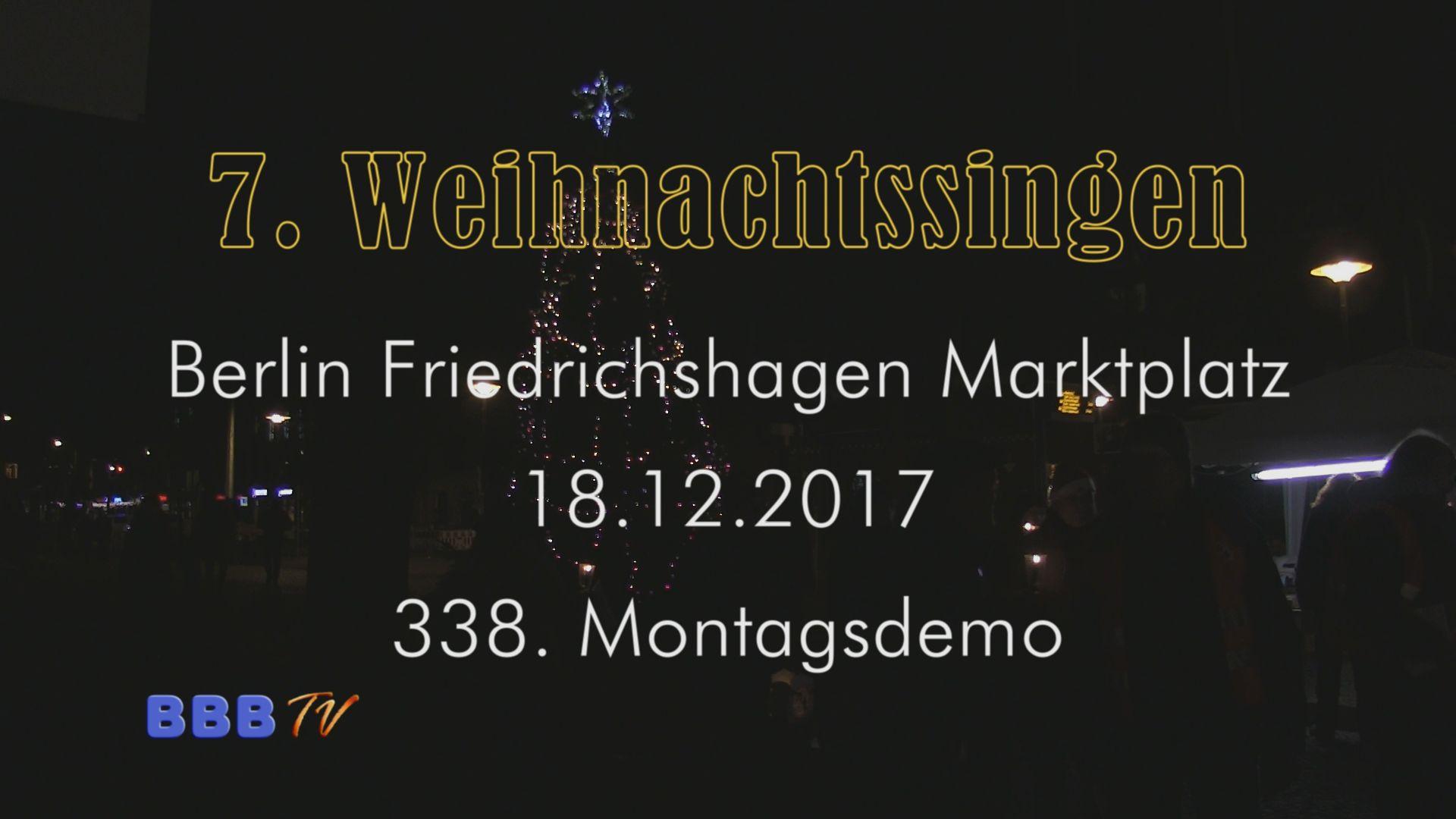 Stille Nacht, wie jedes Jahr auf dem Friedrichshagener Marktplatz mit aktuellen Informationen der FBI zum BER